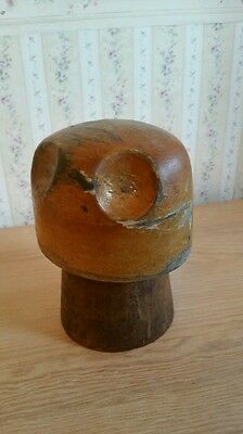 Antique Vintage Wooden Hat Cap Millinery Block Wood Form Hat Making Hutform 35