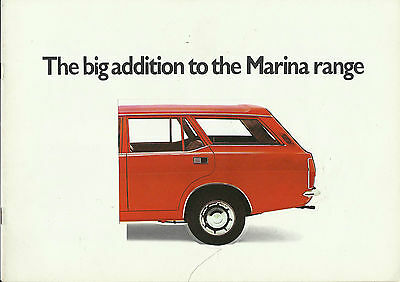 MORRIS MARINA 1.8 Estate Mk1 original 1972 UK colour brochure