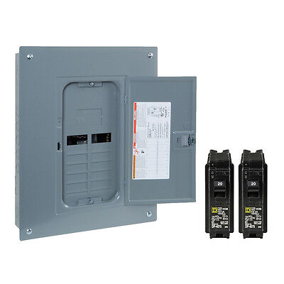 NEW Square-D 125-Amp 20-Space 40-Circuit Indoor Home Main-Breaker Load Panel Box