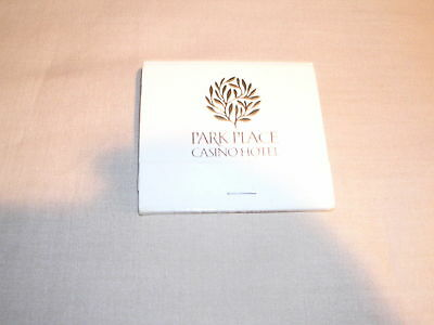 Park Place Casino Hotel Atlantic City White Matchbook