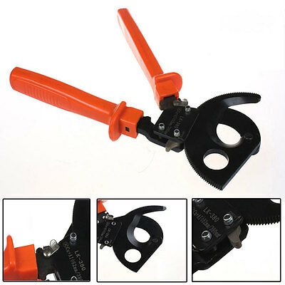 LK-380 Ratchet Cable Cutters Cutting Single Strand Or Multi-strands Cables