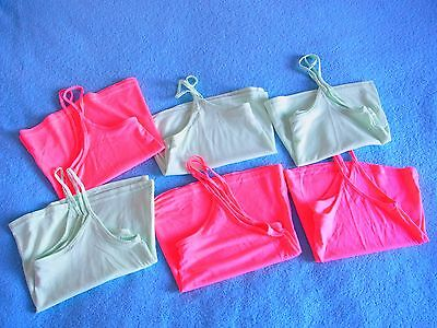 Joblot Of 6x Women's Ladie's Cami Spaghetti Straps Crop Top Swing Vest clearance