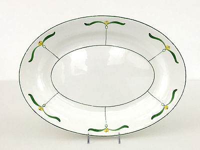 Antique Edwin M. Knowles China Co. serving platter SEMI-VITREOUS 1890's 1900's