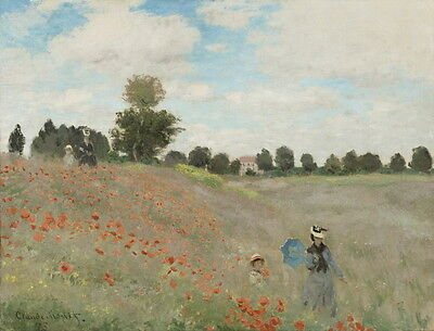 Claude Monet Poppy Field Giclee Canvas Print Paintings Poster Reproduction Copy