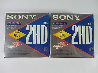 "20 Sony 2HD 1.44MB Micro Floppydisks 3.5"" MFD Discs Formatted for IBM HD NEW"