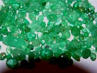 Emerald cabochons from Colombian emerald mixed shape lot 5 carats 9 to 20 cabs