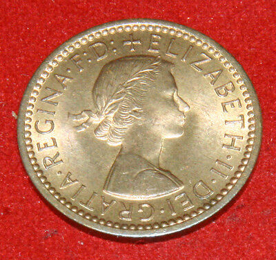 UK Farthing 1954 Elizabeth II KM# 895 Sp# 4159