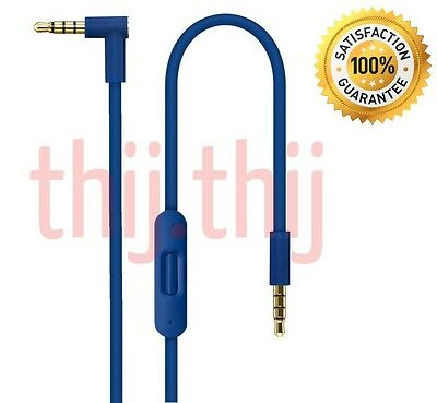 V2 Blue Control Talk Remote Mic Wire Cable for Beats by Dr Dre Studio/Solo