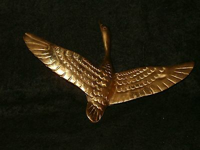 Vintage Door Knocker Doorknocker Solid Brass Good in Flight Bird Duck Goose