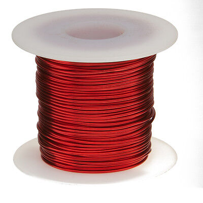 "20 AWG Gauge Enameled Copper Magnet Wire 1.0 lbs 319' Length 0.0331"" 155C Red"