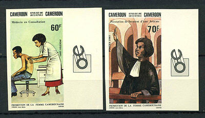 16-10-05324 - Cameroon 1983 Mi.  1002-1003 MNH 100% Imperf. Consulting doctor Re