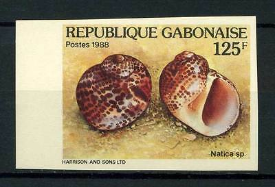 16-10-05341 - Gabon 1988 Mi.  1026 MNH 100% Imperf natica sp. 125 F