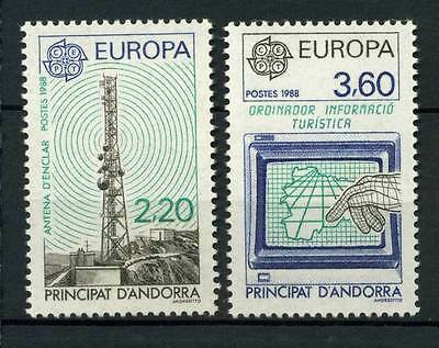 16-10-06095 - French Andorra 1988 Mi.  390-391 MNH 100% CEPT  Transport and Comm