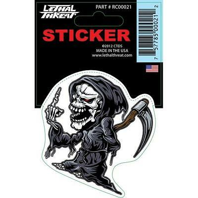 LETHAL THREAT Motorcycle Scooter Bike Board Decal Helmet Mini Sticker RC00021