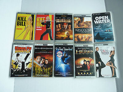 HUGE Sony PSP Ten UMD Movie Lot - Mix of NEW and Excellent Condition