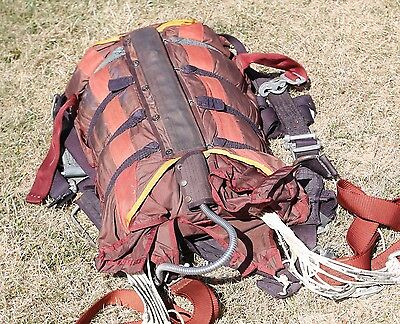 1967 skydiving parachute container - extended for a ParaCommander custom colored