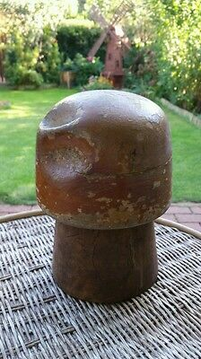 Antique Vintage Wooden Hat Cap Millinery Block Wood Form Hat Making Hutform 628