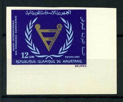 16-10-05396 - Mauritania 1981 Mi.  720 MNH 100% Imperf. Disabled People Year