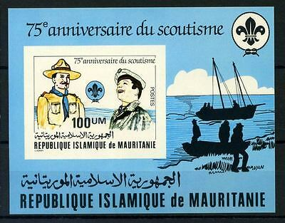 16-10-05411 - Mauritania 1982 Mi.  Bl.33 SS 100% MNH Boats, Scouting. Imperf.