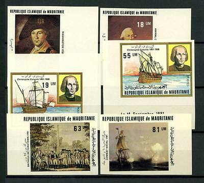 16-10-05434 - Mauritania 1981 Mi.  731-736 MNH 100% Imperf. Christophe Colomb