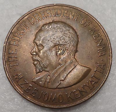Kenya  1971  Nice Large Old 10 Cents Coin   Km#11