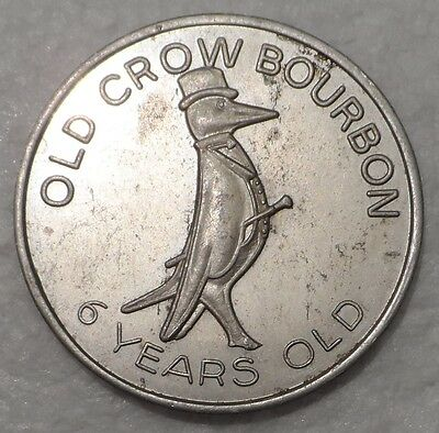 OLD CROW Bourbon Whiskey Advertising Doubloon Token 1974-75