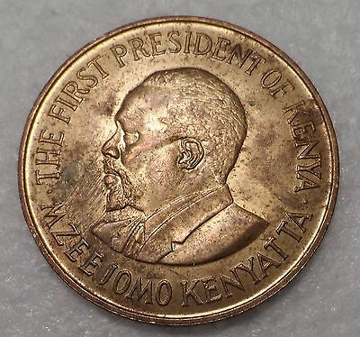 Kenya  1977  Nice Large Old 10 Cents Coin   Km#11