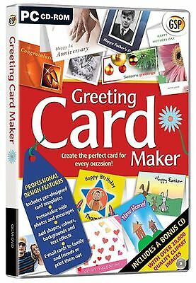GSP Greeting Card Maker PC New/Sealed