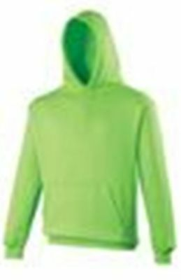 Kids Childs Hoodie Vibrant Electric 4 Colours 5 Sizes Bnwt