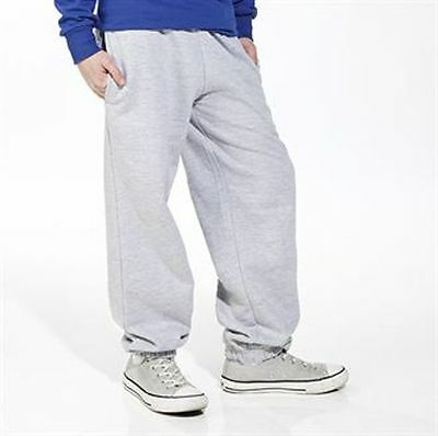 Kids Childrens Cuffed Jog Pants Joggers 4 Sizes 3 Colours Bnwt