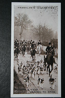 Fox Hunting  Whaddon Chase Foxhounds  Buckinghamshire  Vintage Photo Card # VGC