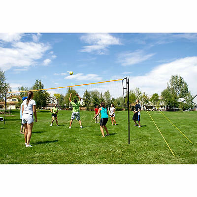 New Volley Flex Volleyball Net Adjustable Steel Outdoor Play Set Ball Sports