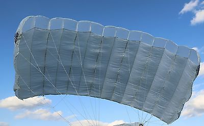 Transfair 128 sq ft reserve - skydiving 7 cell parachute - mint - 08/1999