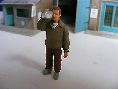 Young Man Standng with a Video Camera - 1:43 Gauge Painted Metal Model