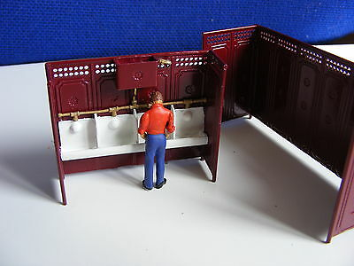 Victorian Cast Iron Gents Toilet + Man Having a P - 1:43 Painted Metal Model