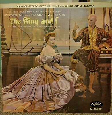 The King & I Soundtrack Vinyl Record Signed By Yul Brynner Rodgers Hammerstein's