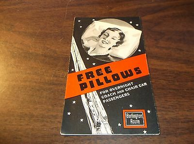 June 1939 Cb&q Burlington Free Pillows Brochure