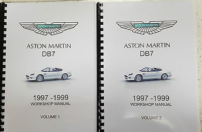 Aston Martin Db7  Workshop  Manual 97 - 99 Reprinted A4 Comb Bound 797 Pages