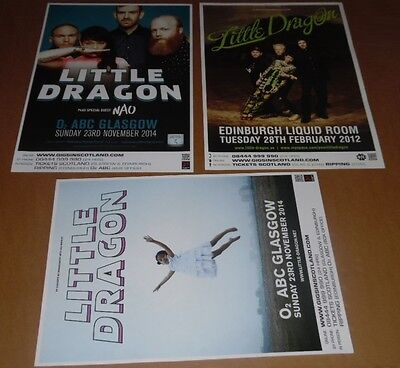 Little Dragon posters - collection of 3 tour concert / gig poster