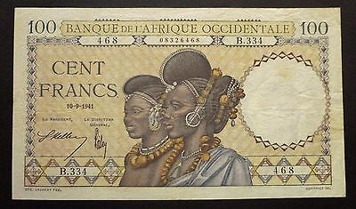 Banque de l'Afrique Occidentale - 100 Francs - 10 septembre 1941  (n°2)