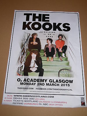 THE KOOKS - rare tour concert / gig poster - march 2015