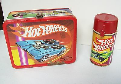 Vintage 1969 HOT WHEELS Cars Lunchbox & Thermos