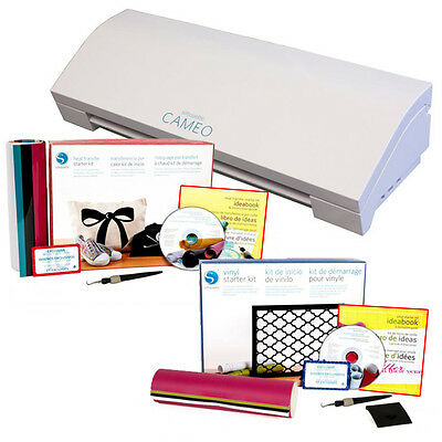 Silhouette Cameo 3 Bluetooth with Heat Transfer and Vinyl Starter Kits