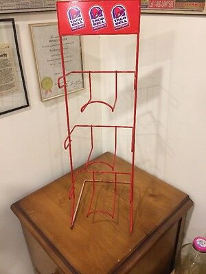 Taco Bell Wire Display Rack - Red