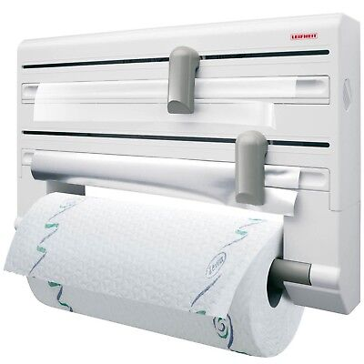 Leifheit Parat Wall-Mounted Foil Cling Film and Kitchen Roll Holder Dispenser...