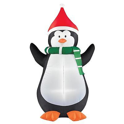 6ft Christmas Airblown Penguin with Lights ~ New In Box
