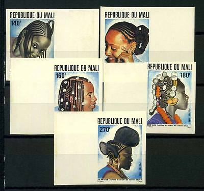 16-10-05848 - Mali 1982 Mi.  919-923 MNH 40% Imperf. Women's hairstyles