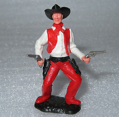 TIMPO TOYS  seltener Cowboy Farbvariante weiß - rot