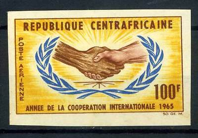 16-10-05652 - Central Africa 1965 Mi.  71 MNH 80% Imperf. Cooperation