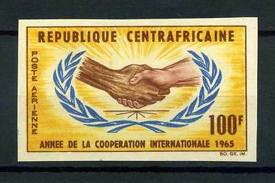 16-10-05653 - Central Africa 1965 Mi.  71 MNH 80% Imperf. Cooperation Internatio